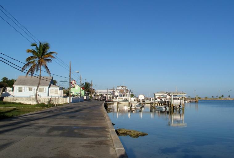 Morning on Settlement Creek, Green Turtle Cay, Bahamas