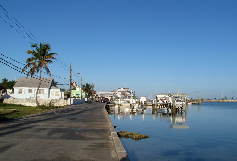 Morning on Settlement Creek, Green Turtle Cay, Bahamas