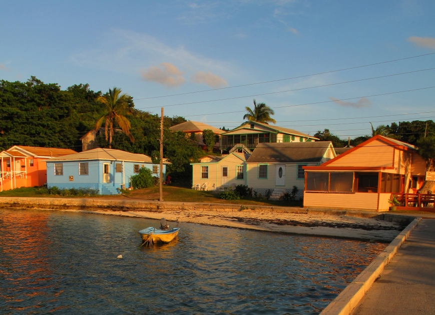Sunset at Settlement Creek, Green Turtle Cay, Bahamas