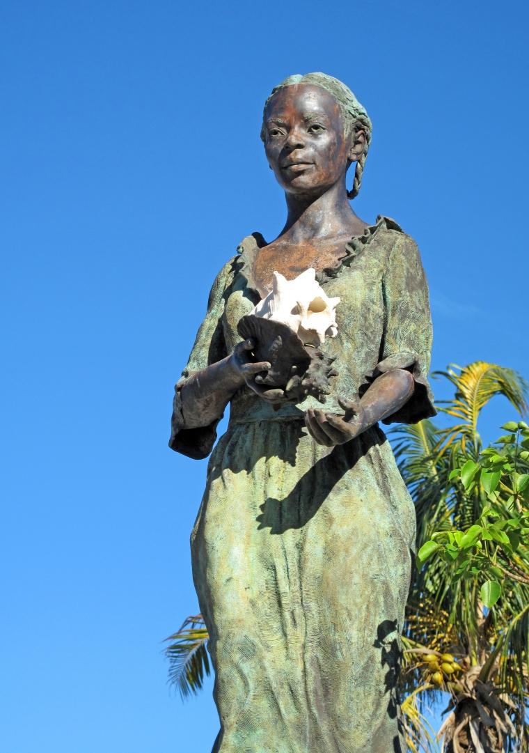 The Landing, centerpiece of the Loyalist Memorial Sculpture Garden, Green Turtle Cay, Abaco, Bahamas
