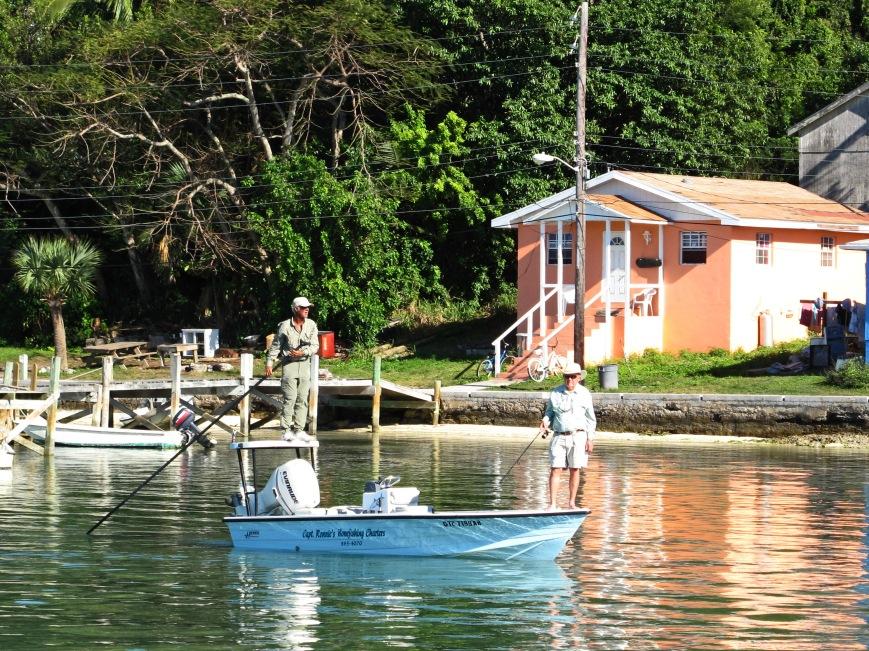Bonefishing with Captain Ronnie Sawyer, Green Turtle Cay, Bahamas