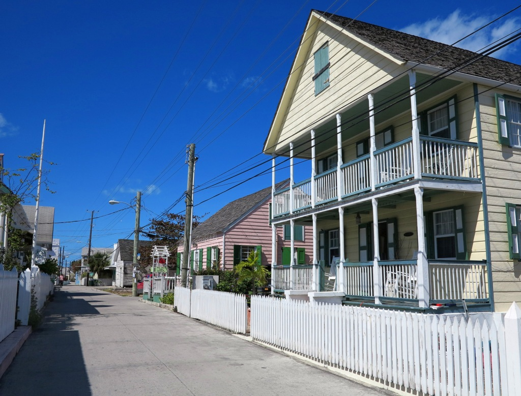 Street scene in New Plymouth, Green Turtle Cay, Abaco, Bahamas