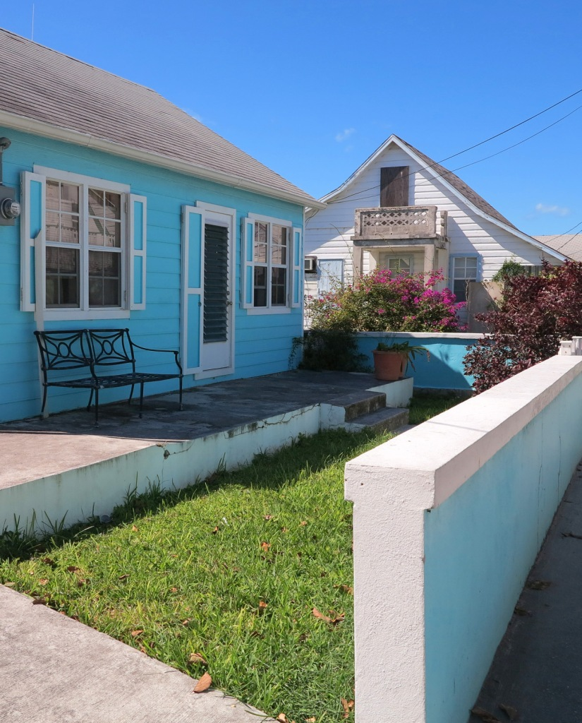 Houses in the New Plymouth settlement, Green Turtle Cay, Abaco, Bahamas