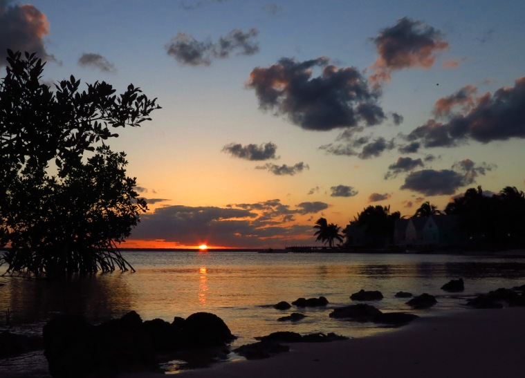 Sunset from the south side of the settlement - Green Turtle Cay, Abaco, Bahamas