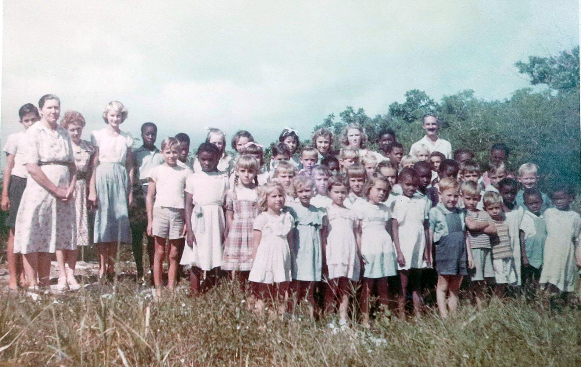 Primary School Students, Green Turtle Cay (circa 1950)