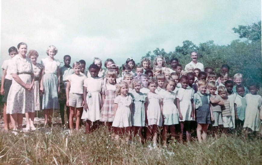Primary School Students, Green Turtle Cay (circa 1950)