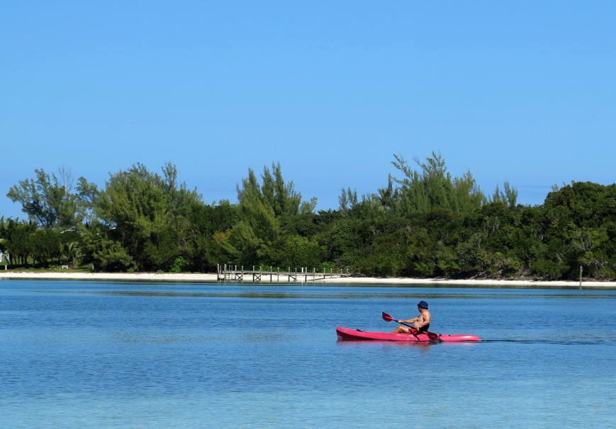Kayaking on Coco Bay, Green Turtle Cay, Abaco, Bahamas