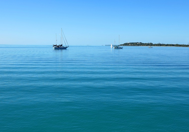 Peaceful morning on the Sea of Abaco - Green Turtle Cay, Bahamas