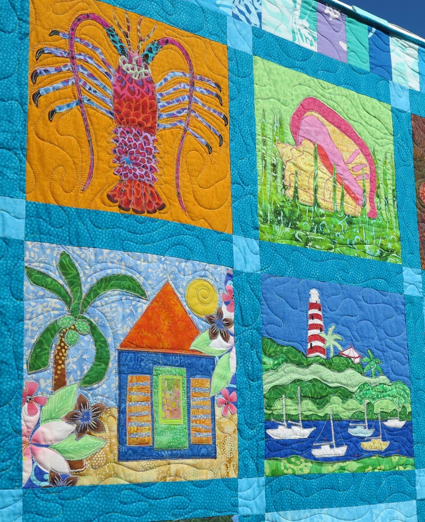 One Week Left to Bid on this Amazing Abaco Heritage Quilt -- All Proceeds to benefit Green Turtle Cay's Albert Lowe Museum