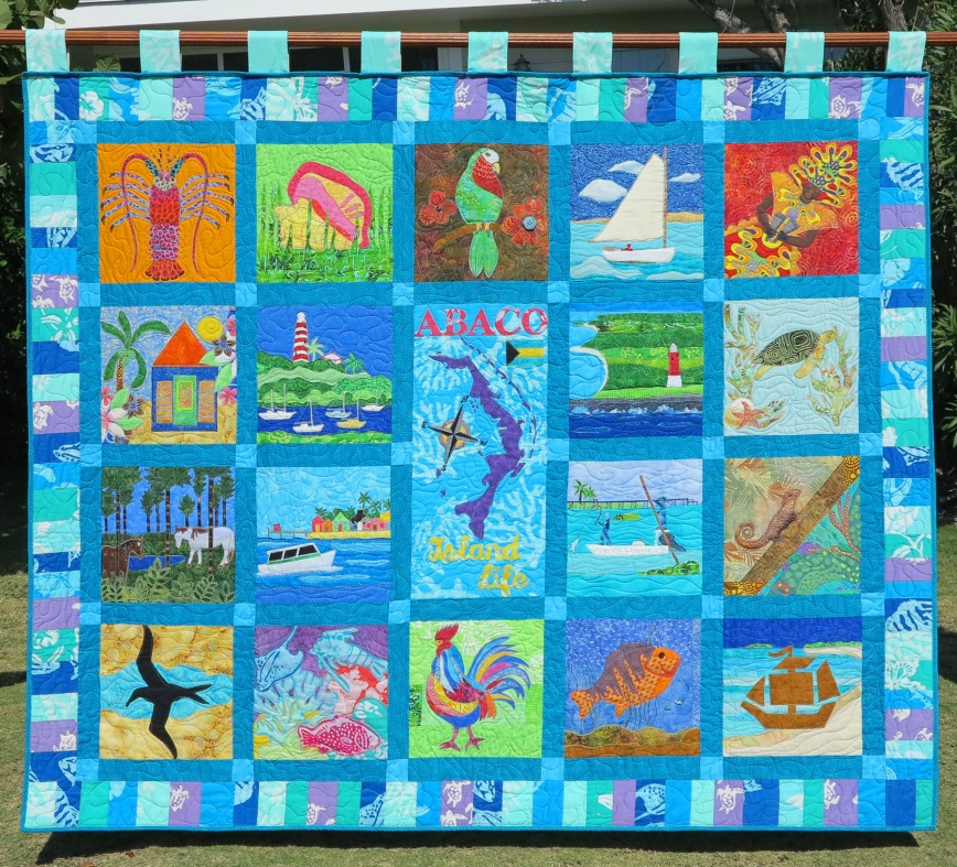 One Week Left to Bid on this Incredible Abaco Heritage Quilt -- All Proceeds to Benefit Green Turtle Cay's Albert Lowe Museum