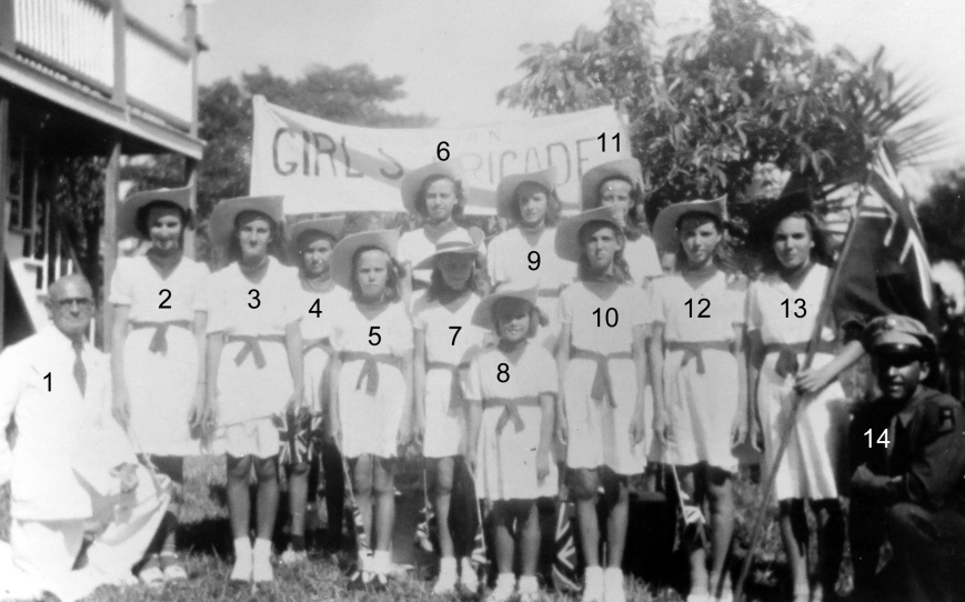 Recognize any of the members of the Green Turtle Cay Girls' Brigade?