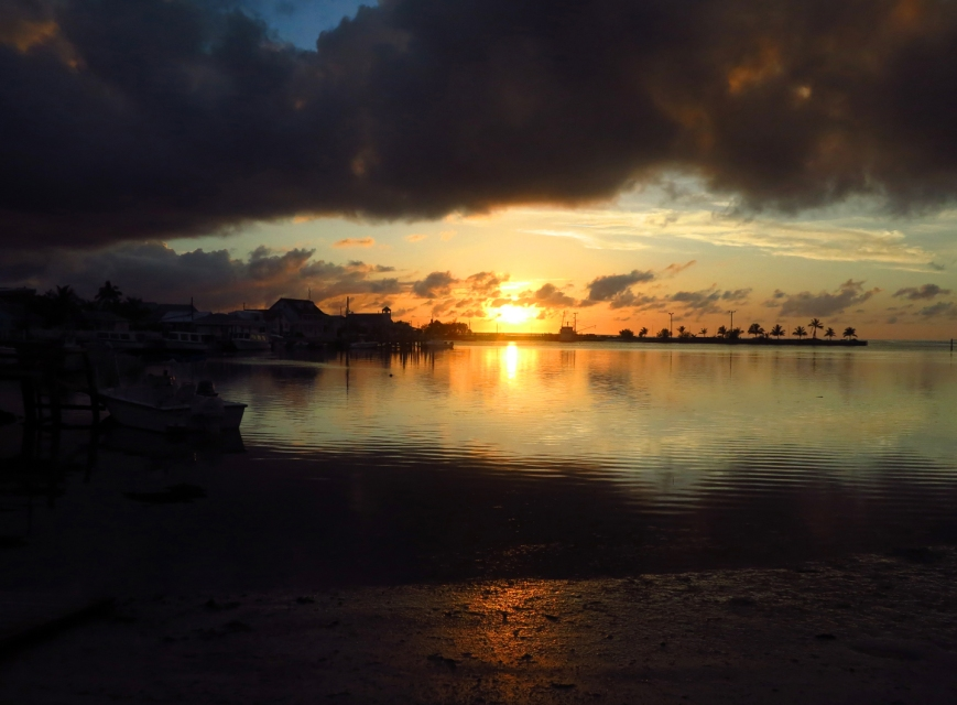 Dramatic sunset, Green Turtle Cay, Bahamas