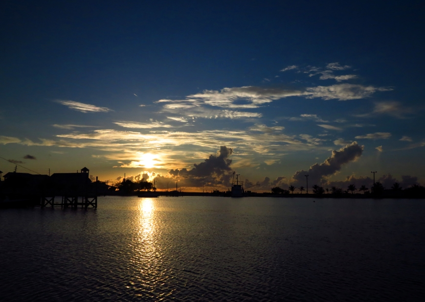 Sunset over New Plymouth - Green Turtle Cay, Abaco, Bahamas