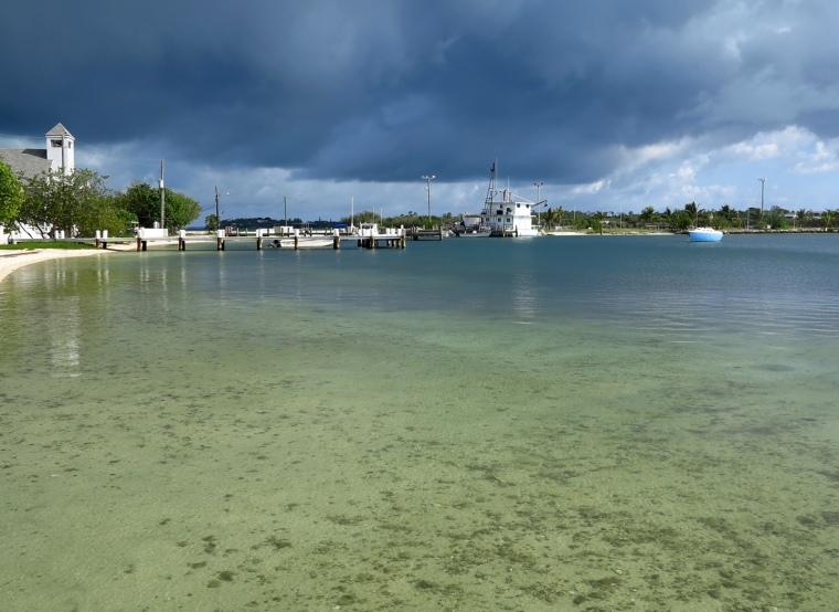 Storm clouds gather to the west of Green Turtle Cay, Abaco, Bahamas.
