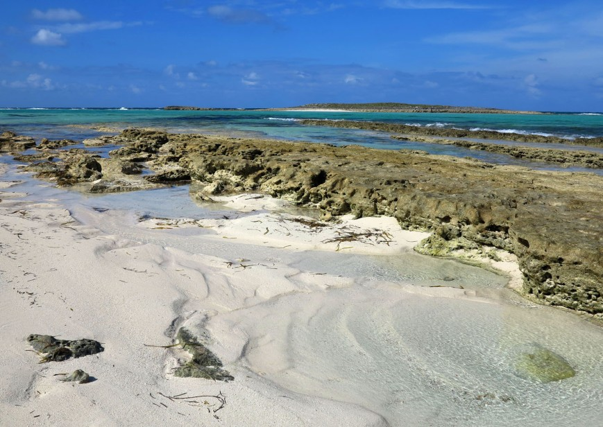 Rocky shore, Green Turtle Cay, Bahamas