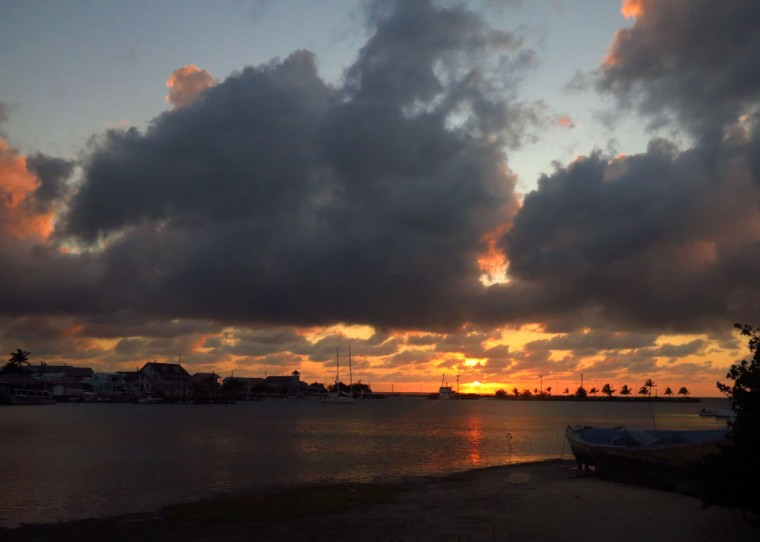 Sunset over New Plymouth, Green Turtle Cay