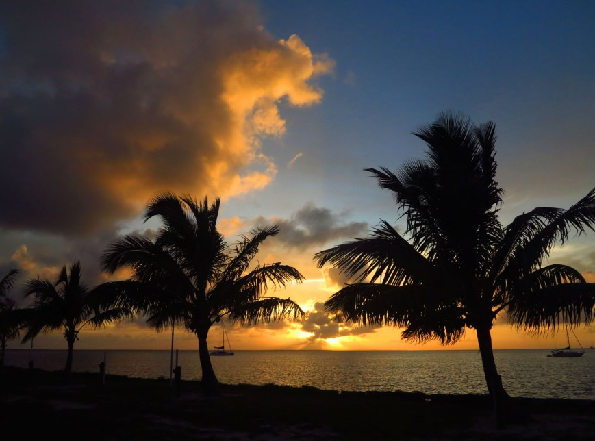 Sunset from Settlement Point, Green Turtle Cay, Bahamas.