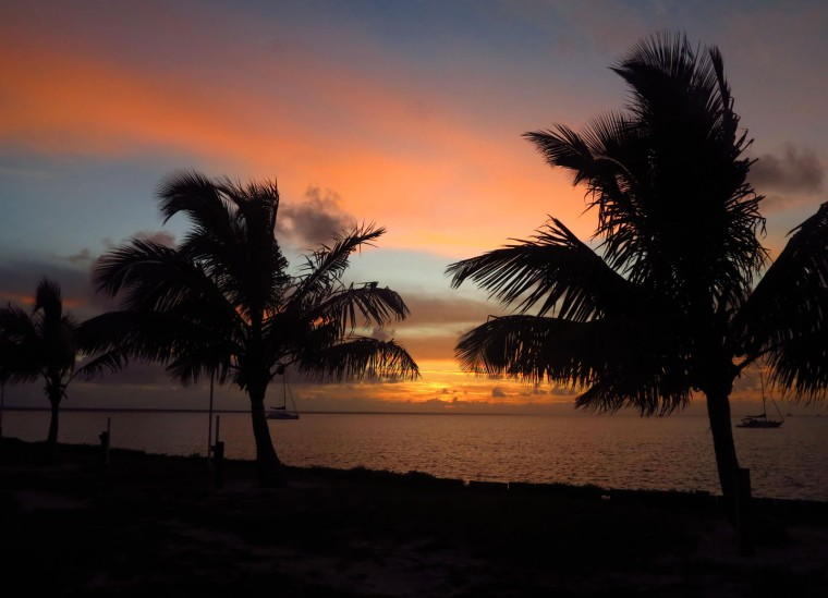 Sunset over the Sea of Abaco - Green Turtle Cay, Abaco, Bahamas