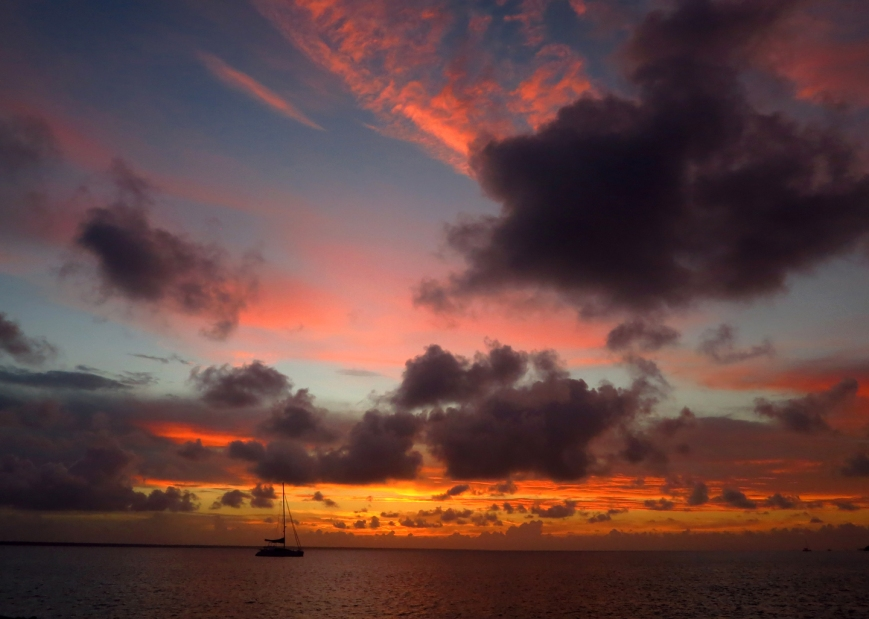 Sunset Over the Sea of Abaco, Green Turtle Cay, Bahamas