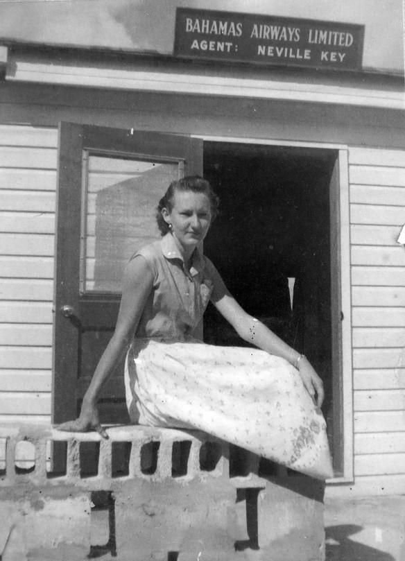 Mrs. Shirley Roberts at the Bahamas Airways Office