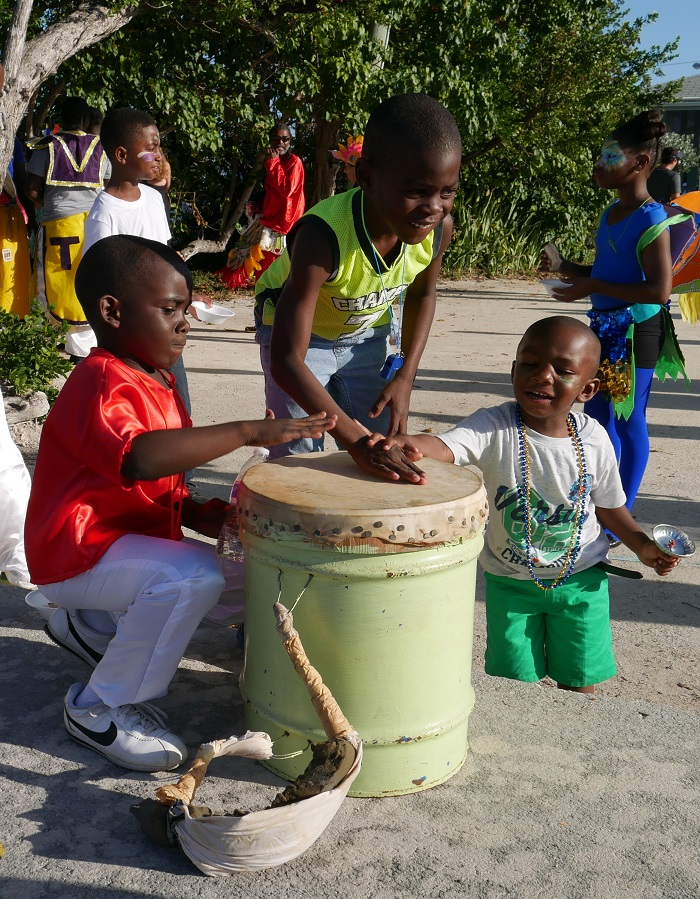 The youngest Junkanoo performers - New Year's Day 2017 - Green Turtle Cay, Bahamas.