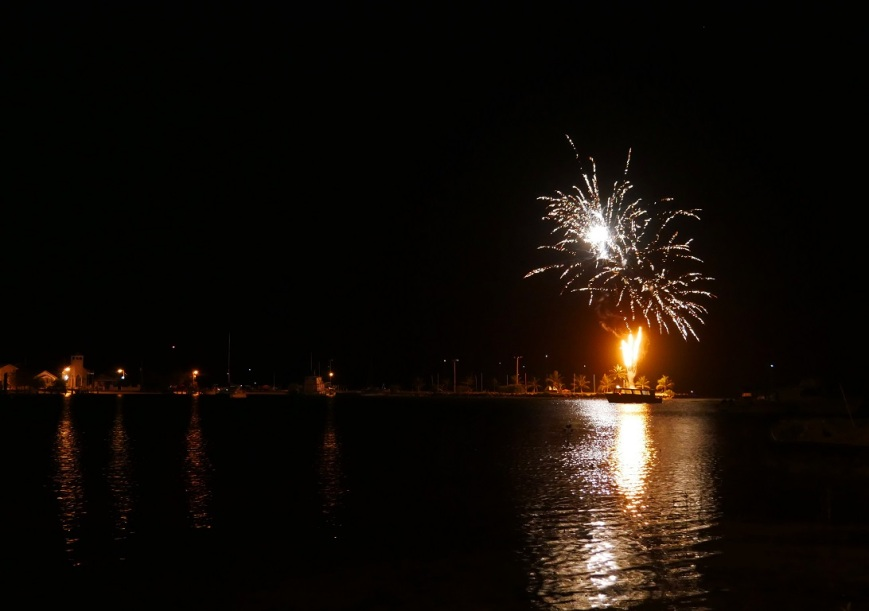 New Year's Day Fireworks - Green Turtle Cay, Abaco, Bahamas