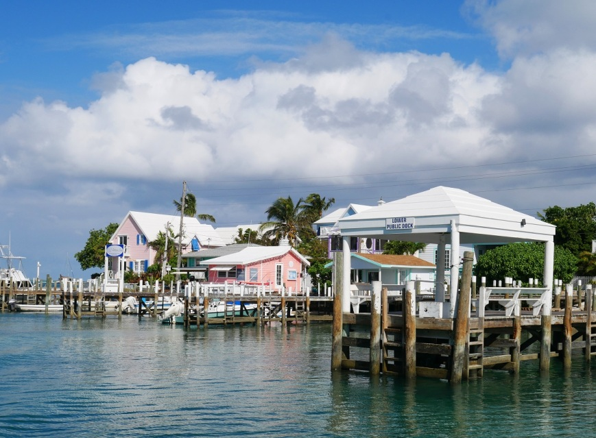 Waterfront in Hope Town, Abaco, Bahamas.