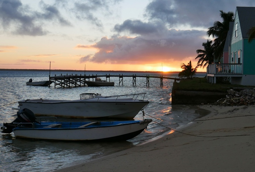 Sunset from the south beach, Green Turtle Cay, Abaco, Bahamas