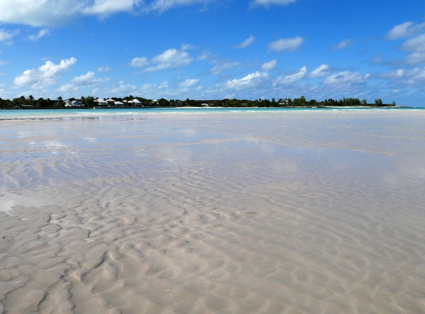 Low tide at Gillam Bay, Green Turtle Cay, Bahamas.