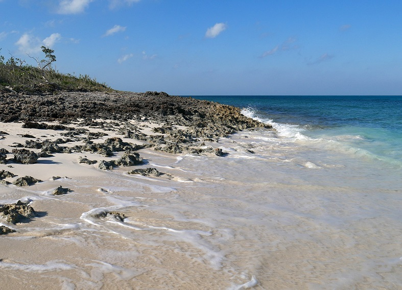 The north end of the ocean beach - Green Turtle Cay, Bahamas.