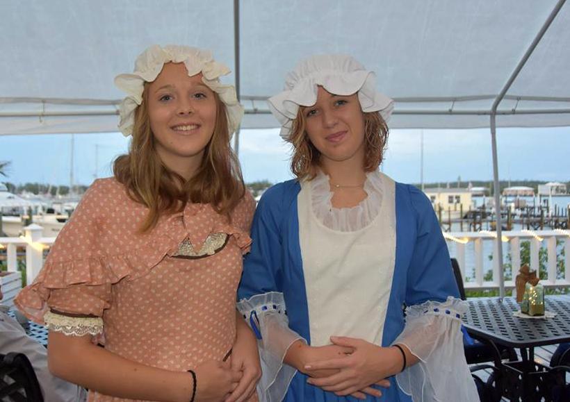 Sisters Sheia and Leia Lowe volunteered as Loyalist girls