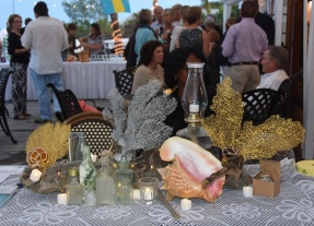 The welcome table, decorated by Mandy Roberts
