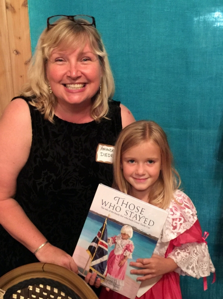 Me with our youngest volunteer, Hailey Bethel