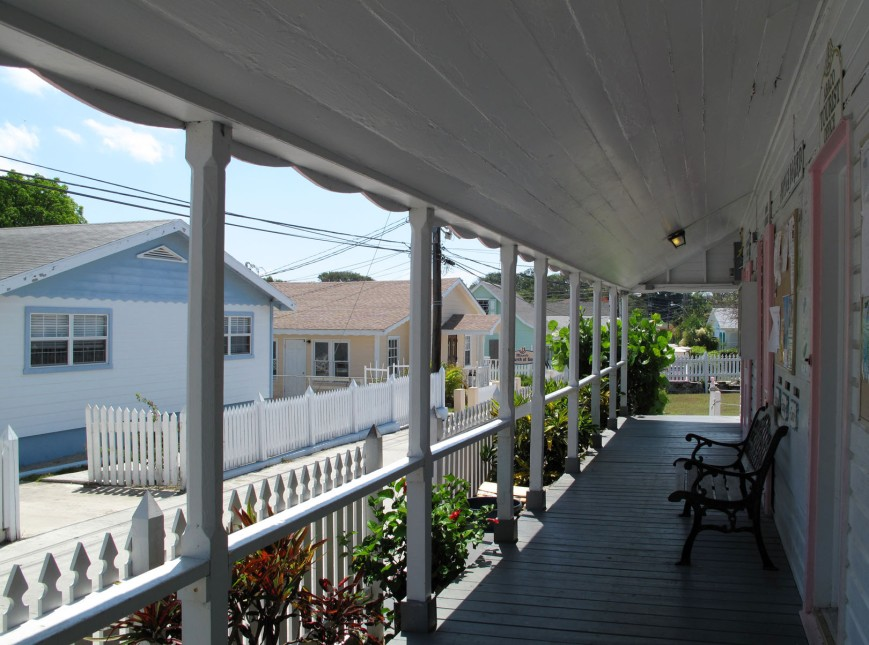 View from the Post Office Porch - Green Turtle Cay, Abaco, Bahamas