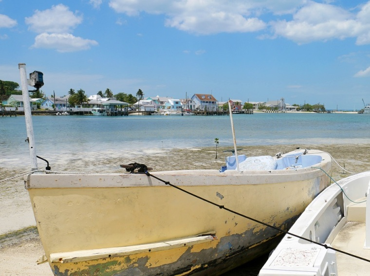 Boats along the shore - Green Turtle Cay, Abaco, Bahamas