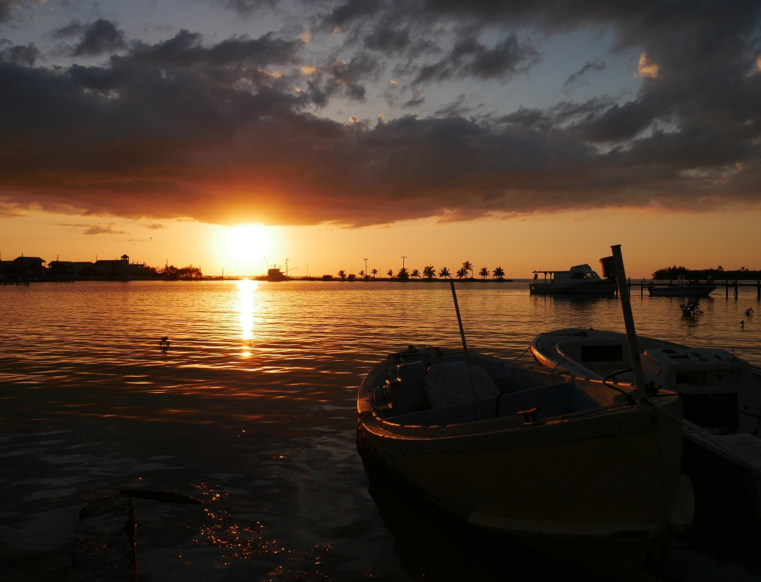 www.LittleHousebytheFerry.com - Daily Photo - sunset over Settlement Creek, Green Turtle Cay, Bahamas.