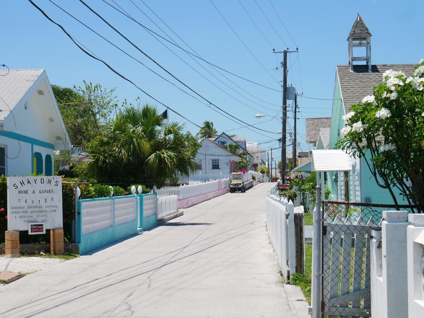 www.LittleHousebytheFerry.com - Daily Photo - Street scene in New Plymouth, Green Turtle Cay, Abaco, Bahamas.