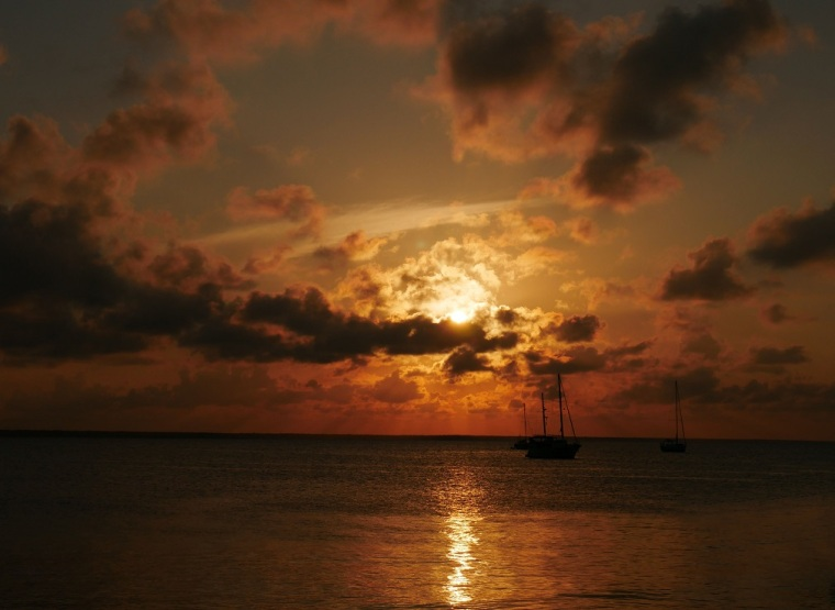 Sunset over Sea of Abaco - Green Turtle Cay, Bahamas