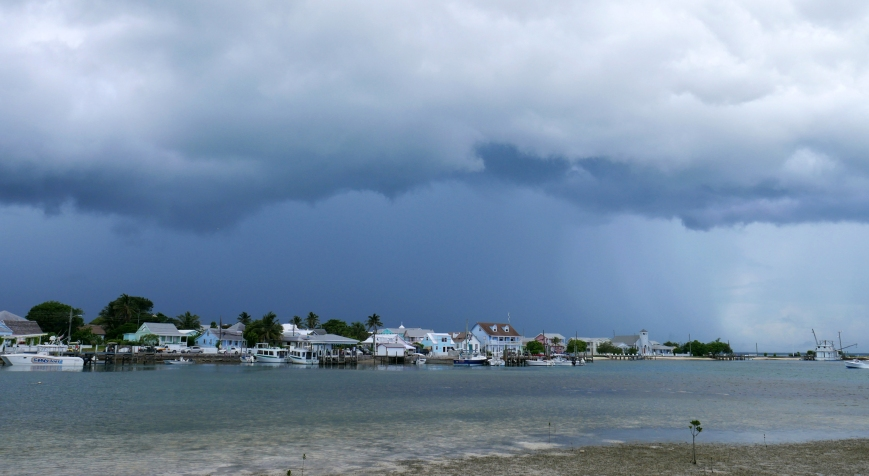 Rainstorm approaches New Plymouth - Green Turtle Cay, Abaco, Bahamas