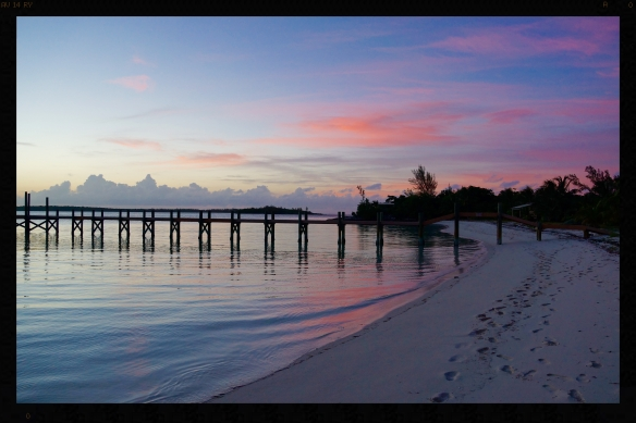 Sunset in Abaco, Bahamas.