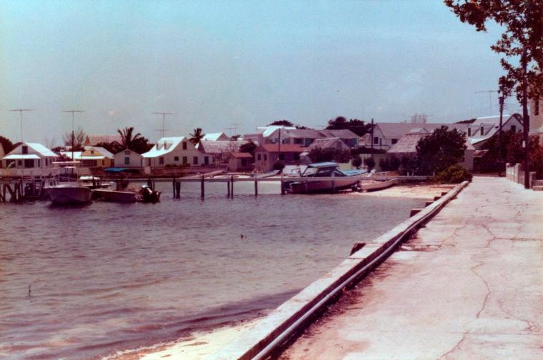 Settlement Creek shore, Green Turtle Cay, Abaco, Bahamas.
