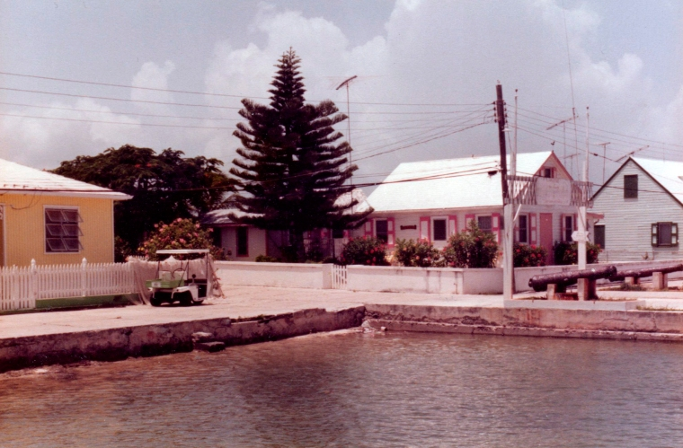 Public Dock in New Plymouth, Green Turtle Cay, Abaco, Bahamas.