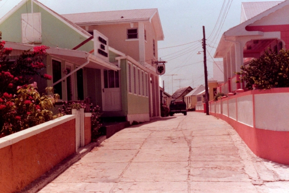 The settlement of New Plymouth, Green Turtle Cay, Abaco, Bahamas.